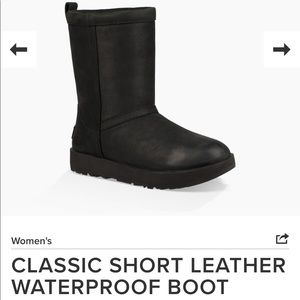 Ugg Classic short leather waterproof boots